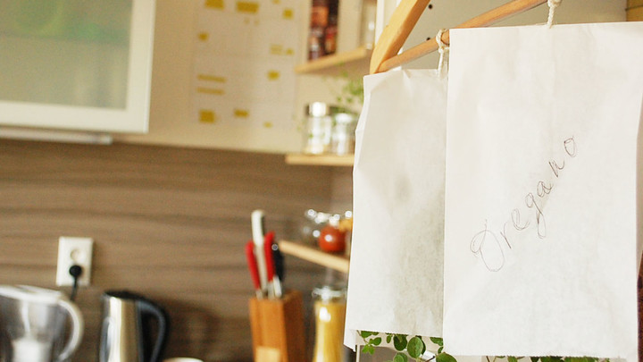 Sušenie byliniek v papierových vreckách